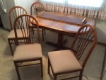 Formica and Wood Table, 1 leaf and 4 chairs $250.00
